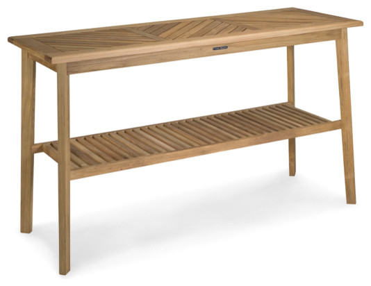 teak serving table craftsman collection contemporary