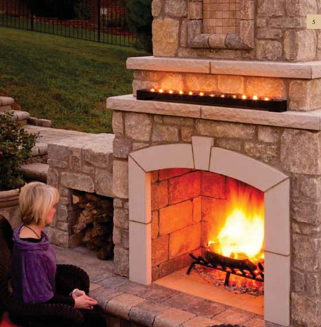The Serenity Fireplace III by General Shale modern-fire-pits