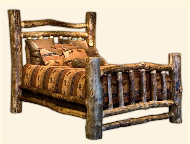 Rustic Furniture Creations Elk Creek Log Bed