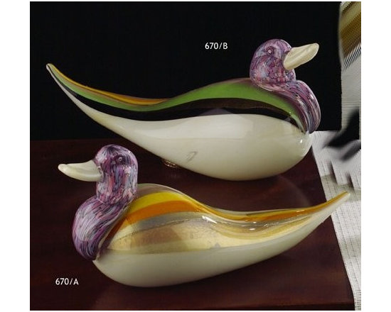 Murano Glass Sculptures and Figurines - Murano Glass Ducks - COA and made to order.  More available so please contact us
