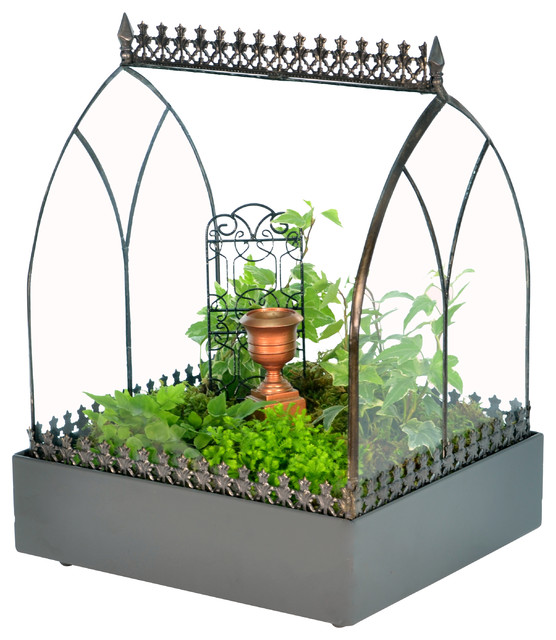 H Potter Wardian Case / Terrarium - Angled Roof traditional-terrariums