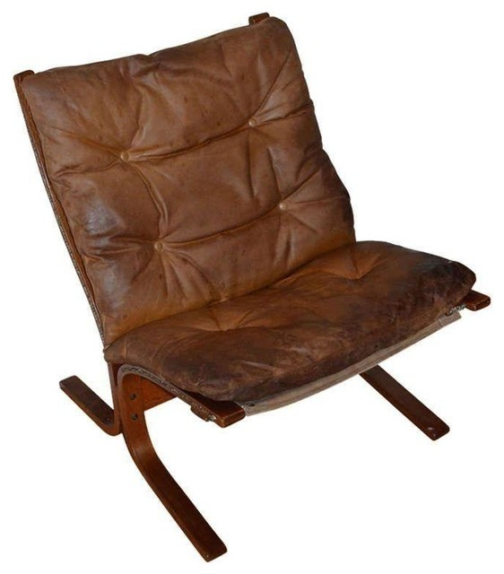 Pre owned Mid Century Ingmar Relling Siesta Leather Chair