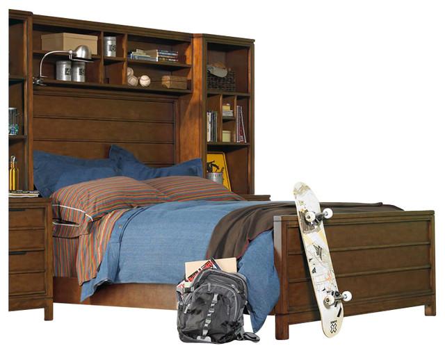 Hooker Furniture Opus Designs Carter Panel Bed in Brown-Full transitional-beds