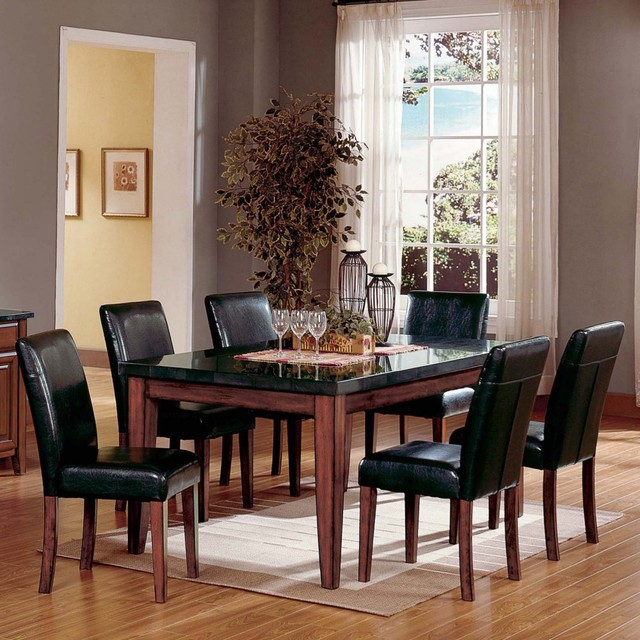 Granite Top Rectangular Dining Table Set Modern Dining Tables By