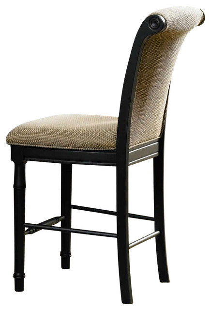 Coaster Cabrillo Counter Height Dining Chair in Rich Dark  : transitional bar stools and counter stools from www.houzz.com size 436 x 640 jpeg 44kB