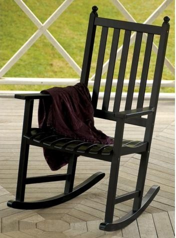 Eucalyptus Black Outdoor Rocking Chair transitional-rocking-chairs-and ...