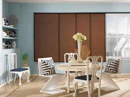 Woven Wood Sliding Panels Contemporary Vertical Blinds Houston