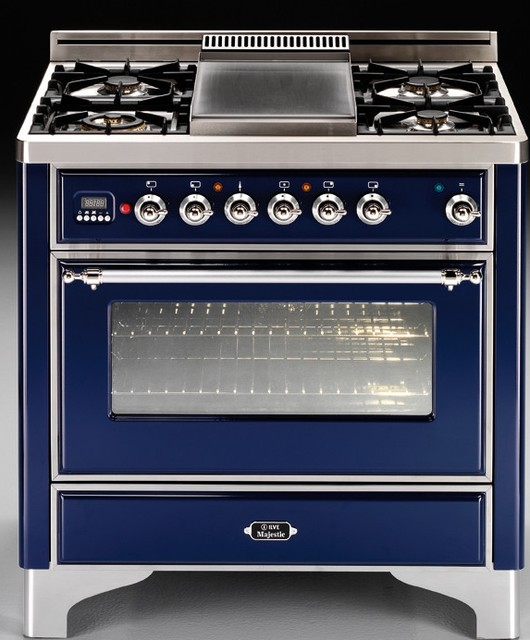 ILVE 36 Majestic Dual Fuel Blue Range eclectic gas ranges and electric ranges