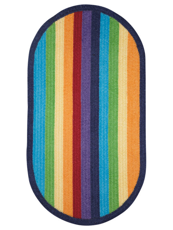 Taffy rug in Rainbow - Playful color adorns the floor in a cleverly crafted stripe. Taffy is the perfect solution for any casual space in need of a pop of color.