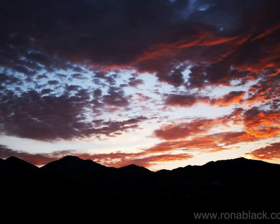 Wasatch Sunrise Art Print by Rona Black -