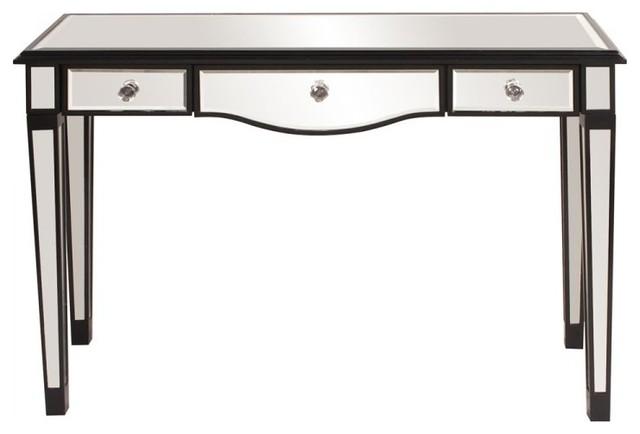 mirrored 3 drawer vanity table