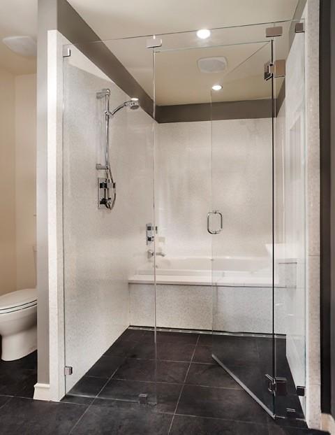 Dfw improved bathroom remodel in dallas contemporary for Bath remodel dallas
