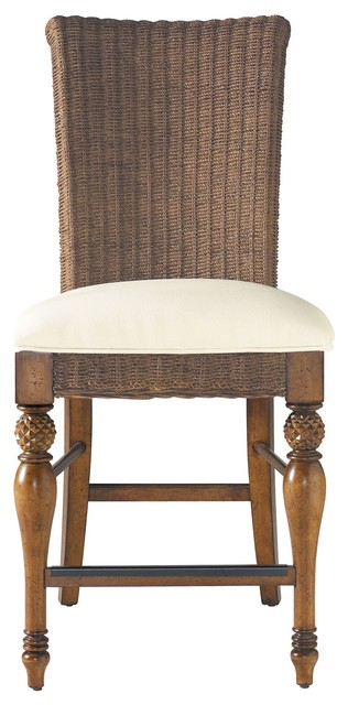 Coastal Living Cottage Woven Counter Height Stool With