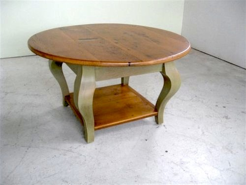 Small Round Coffee Table With Shelf Farmhouse Coffee Tables boston by