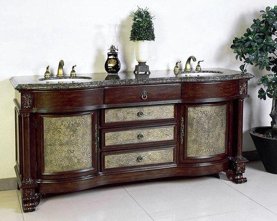 "Ornate and Antique Bathroom Vanities - Legion Furniture 72"" Bathroom Vanity LF64C New 2013 design"