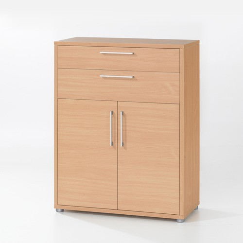 Pierce Office Storage Doors with Two Drawers in Beech ...