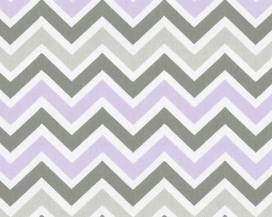 Lilac and Slate Gray Crib Bedding -