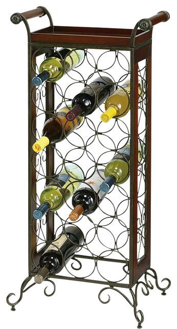 Howard Miller Wine Storage Butler in Warm Gray and Americana Cherry traditional-wine-racks
