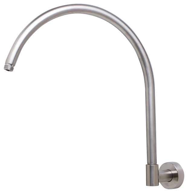ALFI 16 Round Wall Mounted Brushed Nickel Shower Arm For Rain Shower He