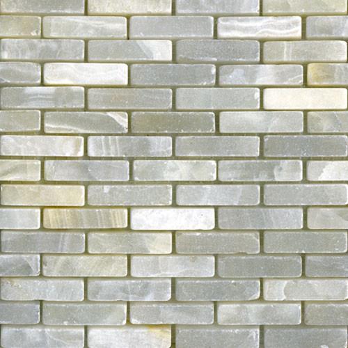 White Onyx Mini Brick Tumbled modern-tile