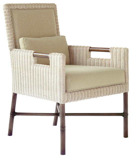 Thomas Pheasant Woven Core Dining Arm Chair: WS-404 traditional-dining-chairs