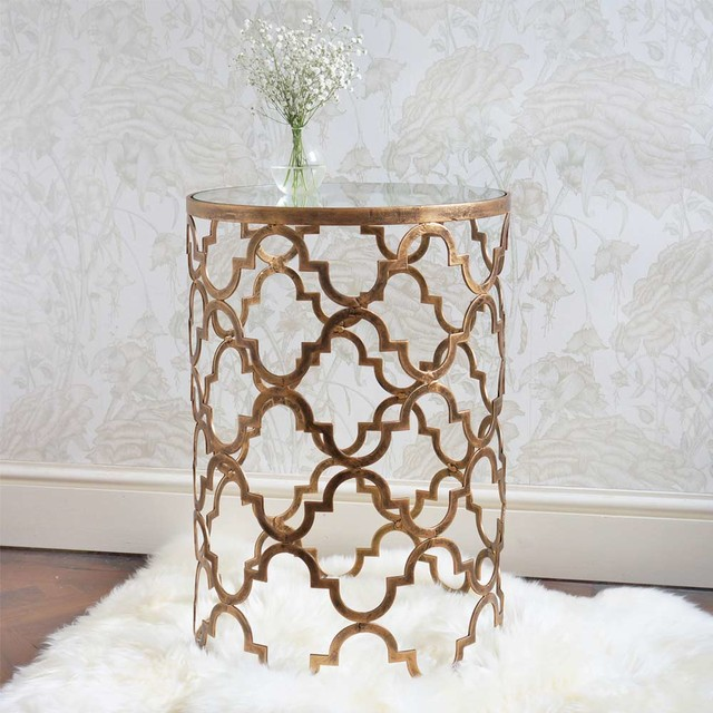 Quatrefoil Side Table Modern Nightstands And Bedside