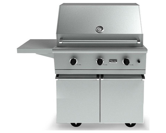 "Viking 36"" Bbq Cart For 100/300 Series Grills, Stainless Steel 