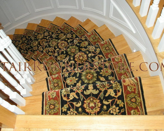Curved Staircase Stair Runner Installations -