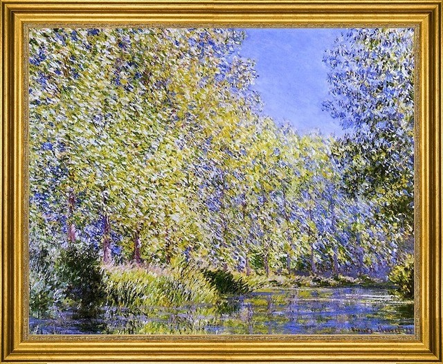 "Claude Oscar Monet-16""x20"" Framed Canvas traditional-artwork"