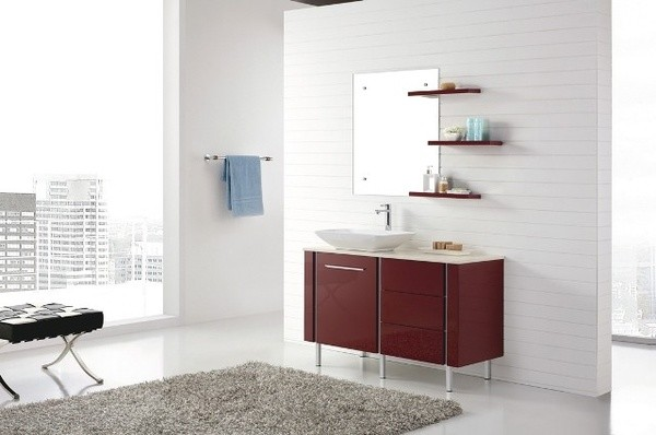 Catalan 1200 Freestanding Red Vanity Modern Bathroom Vanities And Sink Consoles Brisbane