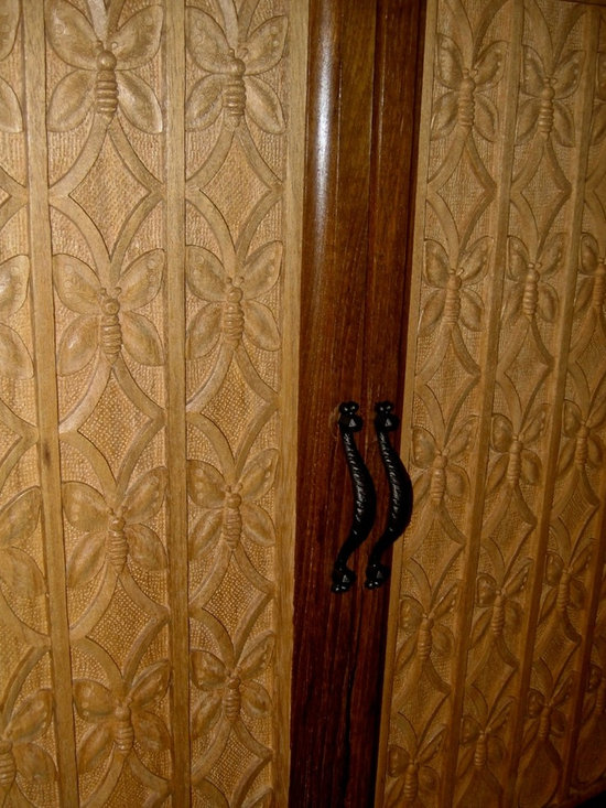Doors - Agrell Architectural Carving - Wood carved Art Deco door - design inspired by Armand Rateau. Hand carved by Agrell Architectural Carving