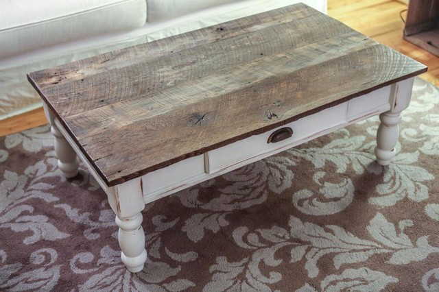 Reclaimed Wood Coffee Table Traditional Coffee Tables