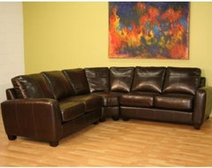 Wholesale Interiors ZOCA Leather Sectional Sofa Set traditional-sectional-sofas