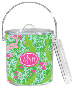Lilly Pulitzer Personalized Ice Bucket - Later Gator eclectic-wine-and-bar-tools