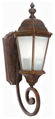 Brielle Brown Two-Light Exterior Light Wall Mount traditional-outdoor-lighting