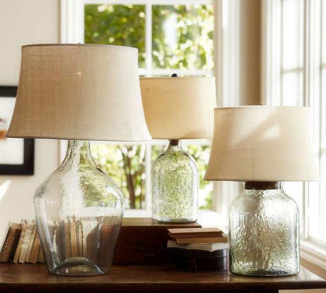 clift glass table lamp base clear contemporary lamp bases by. Black Bedroom Furniture Sets. Home Design Ideas