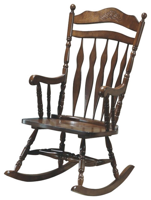 Monarch Specialties Embossed Back Rocking Chair