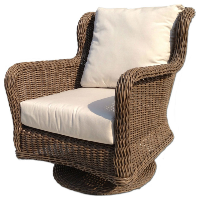 Outdoor Wicker Swivel Chair Bayshore Contemporary Outdoor Lounge Chairs