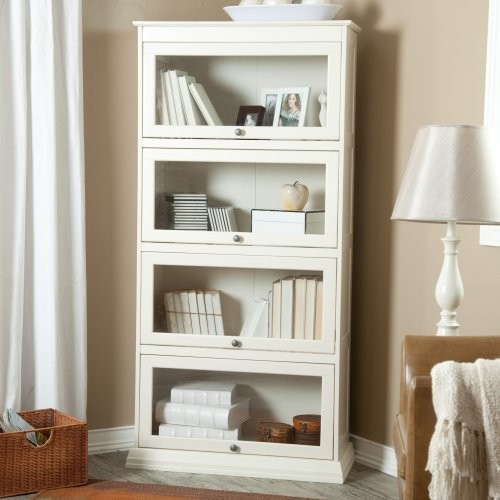 Finley Home Bradshaw 4 Tier Barrister Bookcase - Creamy White - Contemporary - Bookcases - by ...