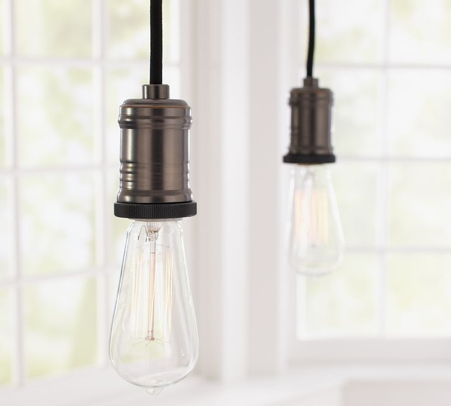 Exposed Bulb Pendant Track Lighting contemporary track lighting