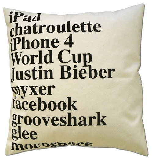 Google Pillow 2010 by Elastic Co. contemporary pillows