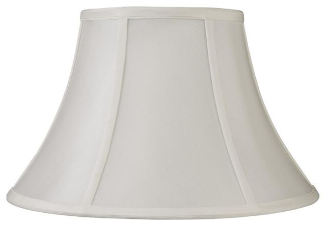 "Laura Ashley SFL421 Classic 21"" Vanilla Faux Silk Bell Shade contemporary-lamp-shades"