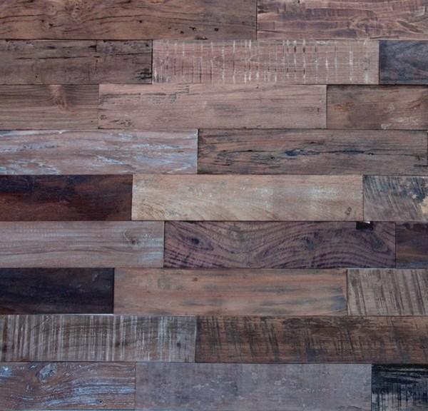 Reclaimed wood cladding hardwood-flooring