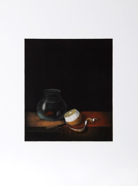Tomoe Yokoi, Goldfish and Lemon, Mezzotint modern-artwork