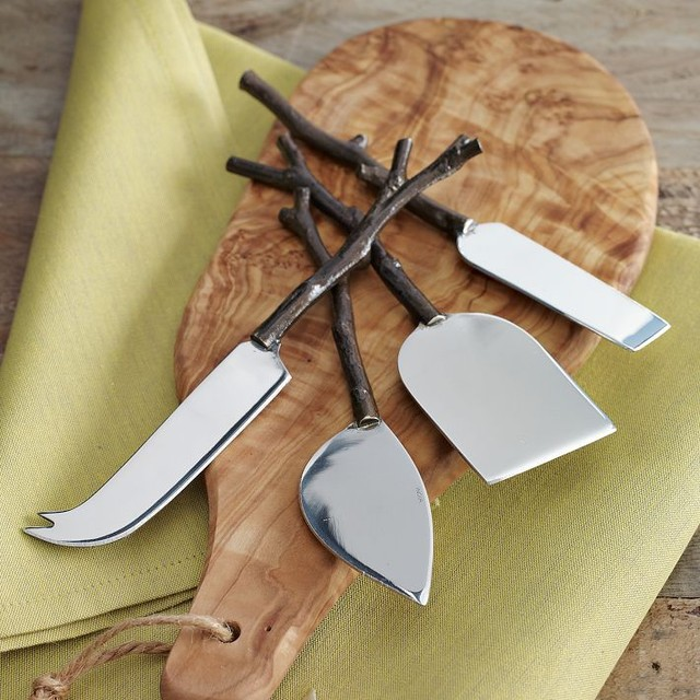 Twig Cheese Knife Set modern knives and chopping boards