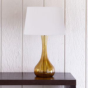 Vidrio Glass Table Lamp Amber Tropical Table Lamps