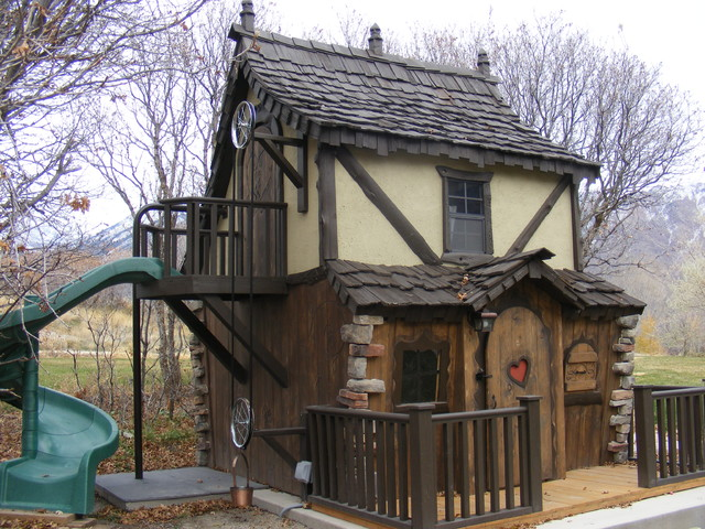 Bavarian Cottage Playhouse Traditional Outdoor