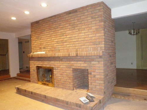 Need help updating central structure fireplace for Central fireplace