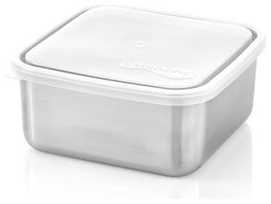 U Konserve® Large Square Stainless-Steel Container with Clear Lid - Contemporary - Food Storage ...