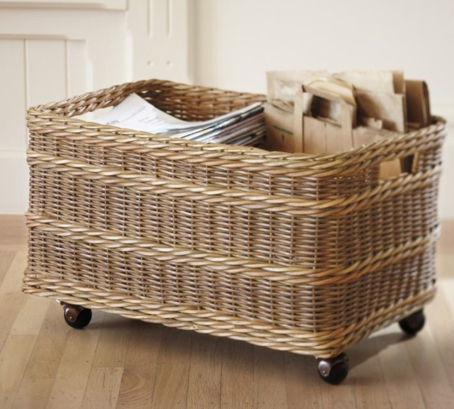 jacquelyne recycling bin basket contemporary recycling bins by pottery barn. Black Bedroom Furniture Sets. Home Design Ideas